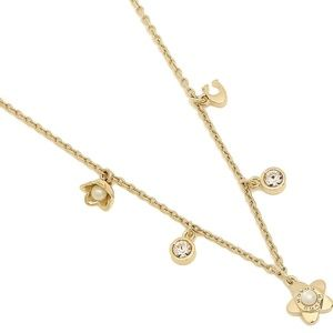 Coach Blooming Flora Charm Necklace NWT Gold NIB